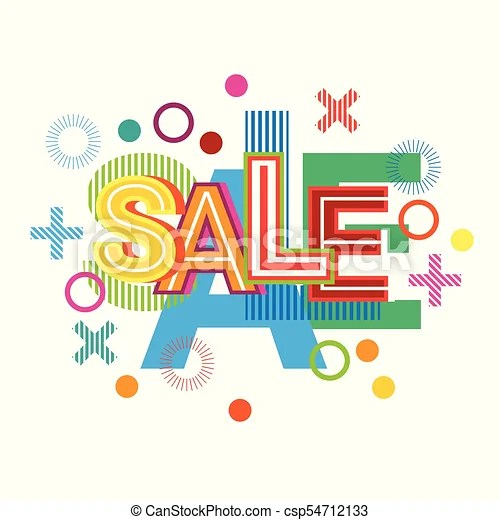 Sale word creative graphic design commerce business concept over