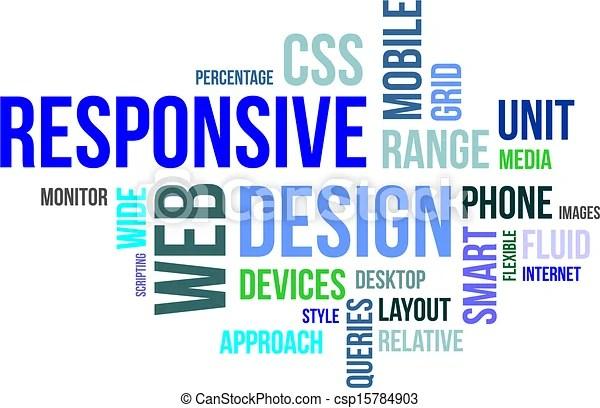 Word cloud - responsive web design A word cloud of responsive web