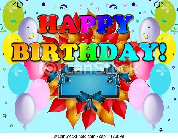 Azul, cartão postal, aniversário, feliz Azul, cartão postal