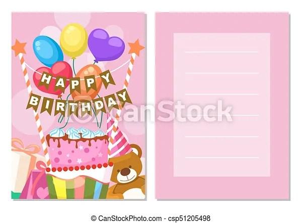 Cartão postal, feliz, jogo, aniversário, crianças Balloons