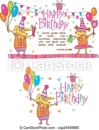 Cartões, aniversário, modelo, feliz
