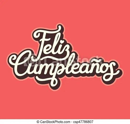 Español, letras, cumpleaños, diseño, feliz Letras, estilo