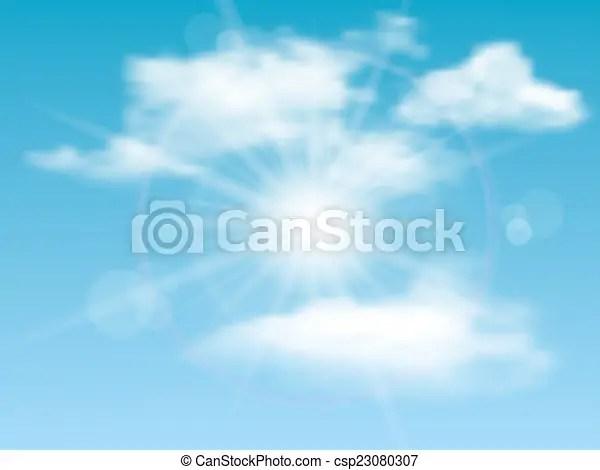 Sol, cielo, plano de fondo, nubes Illustration, naturaleza, sol - fondo nubes