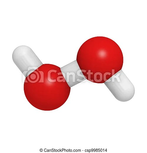 Hydrogen peroxide (hooh) Chemical structure of a hydrogen peroxide