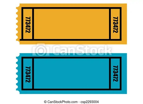 Two blank tickets Two blank perforated tickets, isolated on white