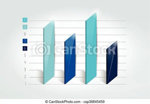 3d chart, graph, bar infographic element - chart and graph