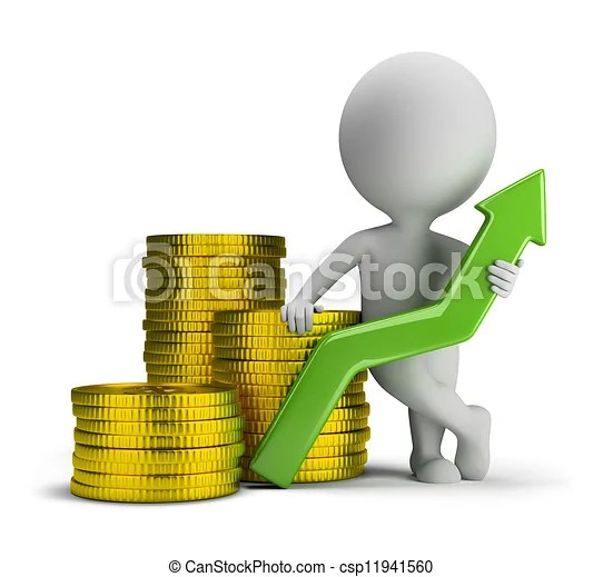 3d small people - good profit 3d small person standing next to a - profit & loss sheets