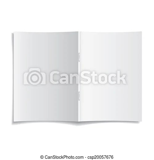 3d vector blank opened magazine cover template 3d modern vector