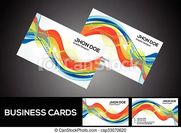 Abstract artistic detailed rainbow business cardeps Abstract
