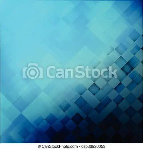 Abstract background blue with basic geometry element vector