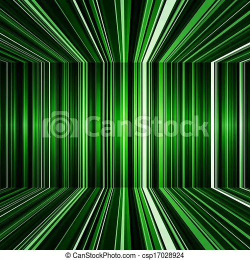 Abstract black and green warped stripes background Abstract black