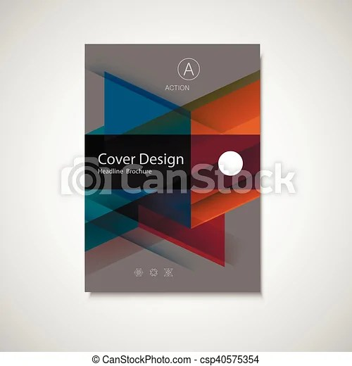 Business annual report cover page template in a4 print size