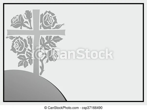 Abstract condolence template Rose as template for obituary or tomb