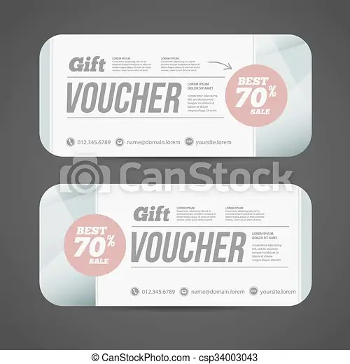 Abstract gift voucher or coupon design template voucher eps
