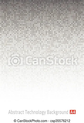 Abstract gray technology background, a4 format a4 size vector