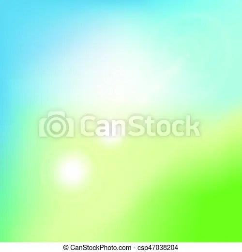 Abstract green blurred gradient background with flare nature