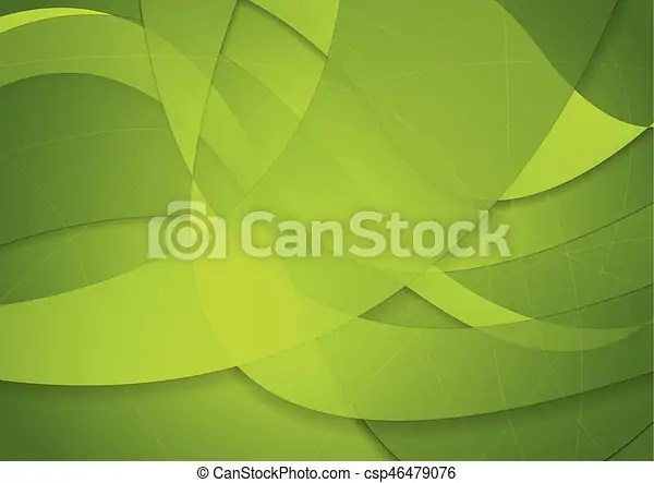 Abstract green waves background Abstract green waves vector background