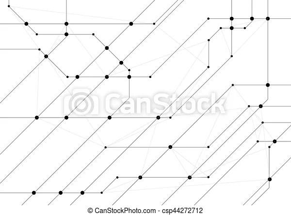 Abstract hi-tech background with circuit board chip grey technology - circuit design background