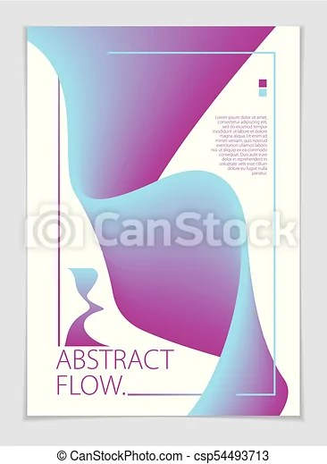 Abstract shape vector background composition a4 print format