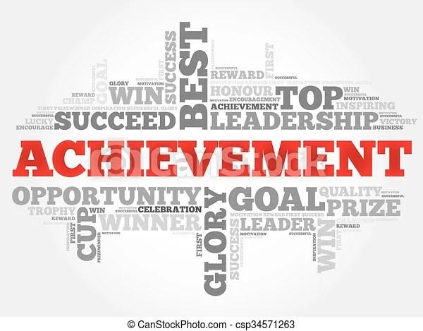 Achievement word cloud, business concept - words for achievement