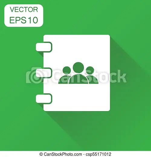 Address book icon business concept contact note pictogram