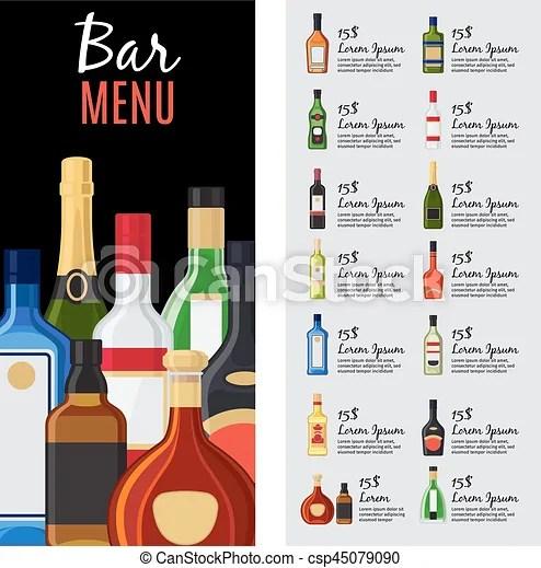 bar drink menu template free - Minimfagency - drinks menu template free