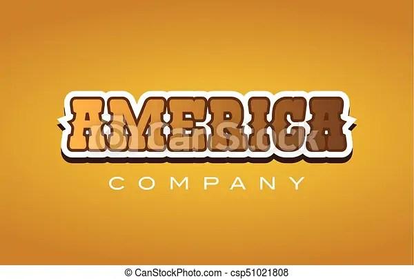 America western style word text logo design icon company Company