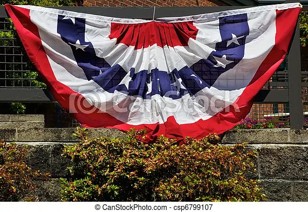 American flag decorationz Semi-circular cloth amerian flag draped