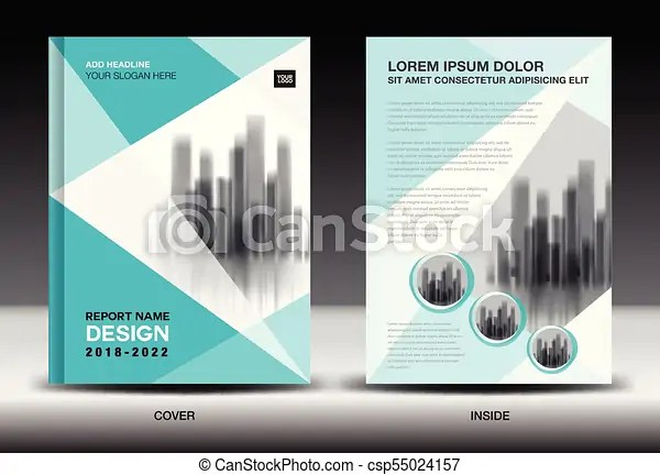 Annual report cover design, brochure flyer template, clipart