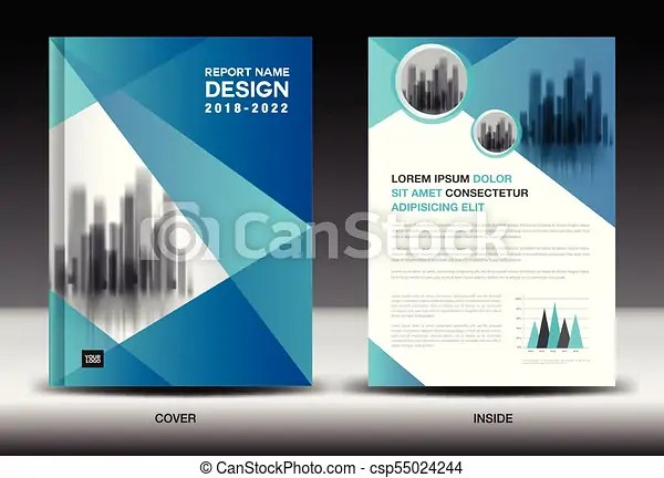 Annual report cover design, brochure flyer template, eps vector