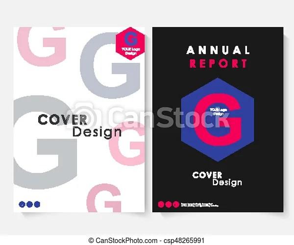 Annual report cover design template vector brochure concept