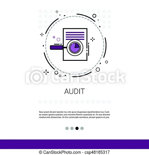 Audit data analysis financial graph report web banner with copy