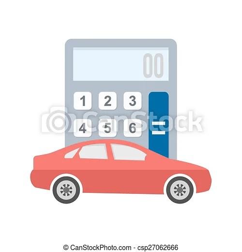 Clip Art Vector of Auto Loan Calculator - Car, vehicle - auto loan calculator