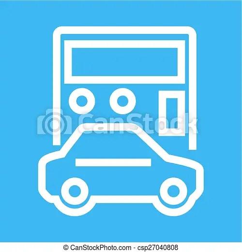 Vector Clipart of Auto Loan Calculator - Car, vehicle, calculation - auto loan calculator