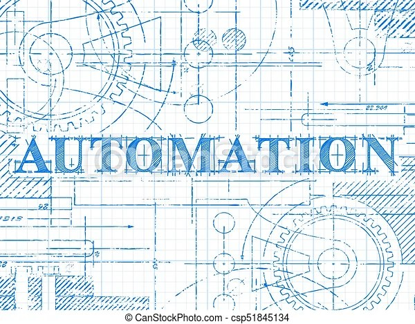 Automation graph paper technical drawing Automation text vectors