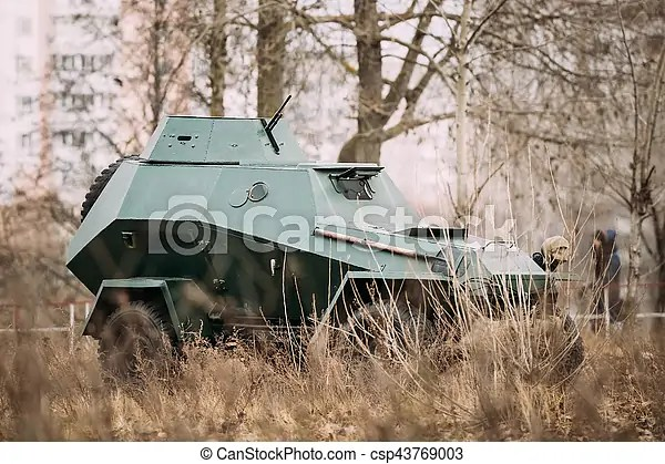 Ba-64 is a small lightly armoured soviet scout car stands in - ba stands for