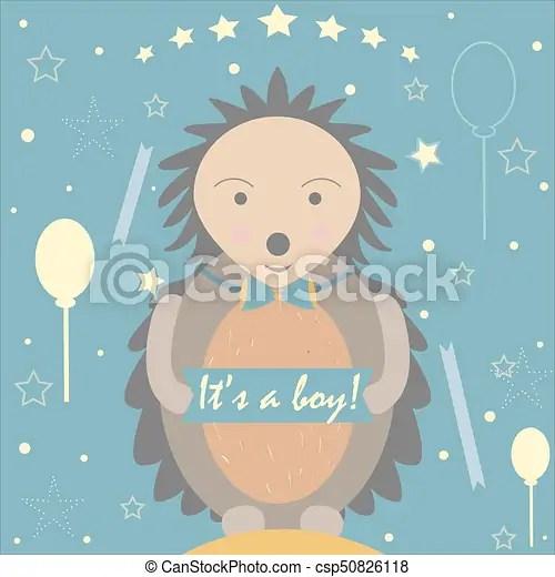 Baby boy birth announcement baby shower invitation card cute