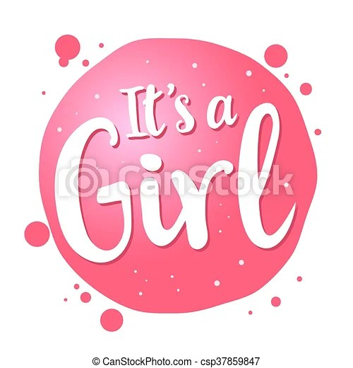 Baby girl birth congratulations greeting text Vector stock of - greeting for new baby girl