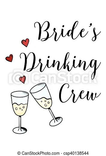 Bachelorette party template bridal shower print on eps vector