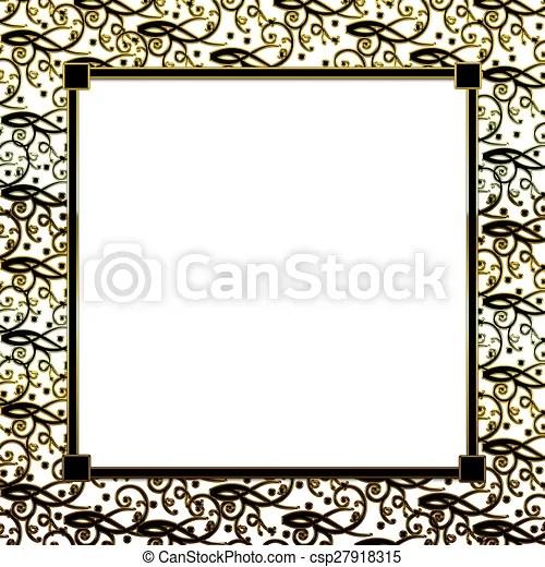 Background gold black border Square black/gold background - black border background