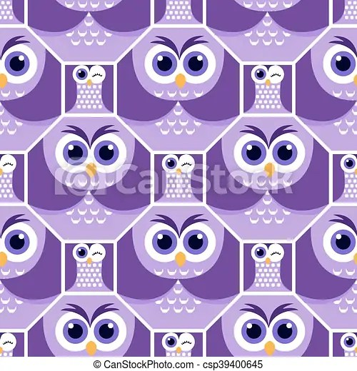 Background shapes owl 4 Seamless background with funny colored