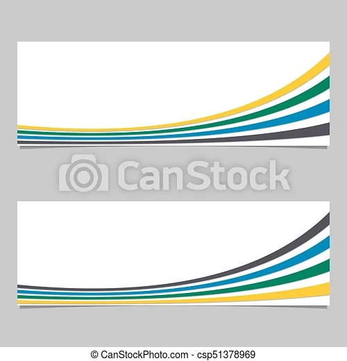 Banner background from curves - vector graphic design with 3d effect