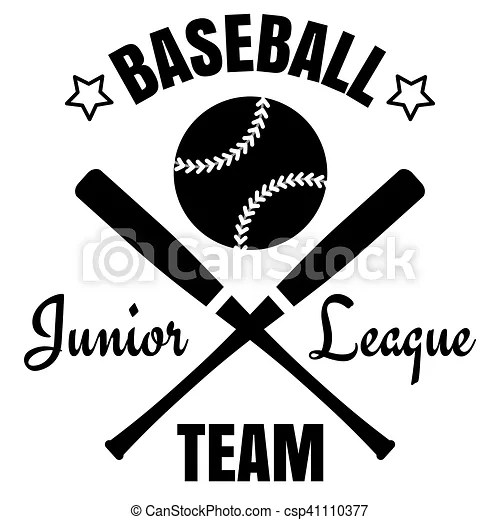 Baseball logo design black baseball logo isolated on white vector