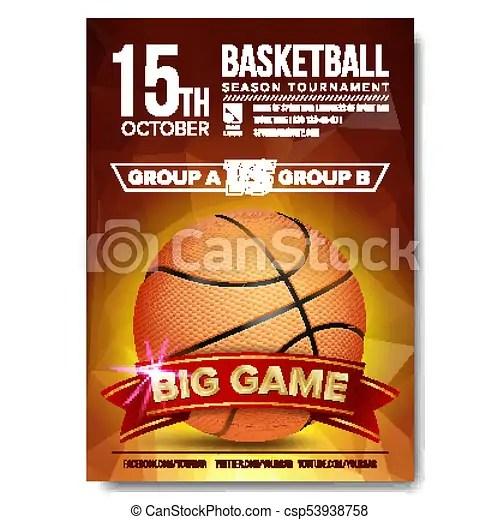 Basketball poster vector basketball ball design for sport bar - basketball flyer example