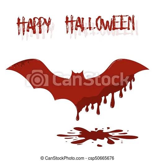 Vectors Illustration of Bat illustration with dripping blood - bat template