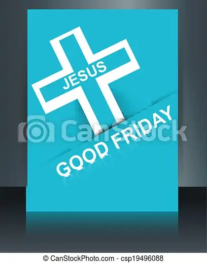 Beautiful card colorful religious background for good friday