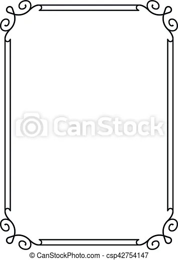 Beautiful simple vector vintage line border frame Frame border line