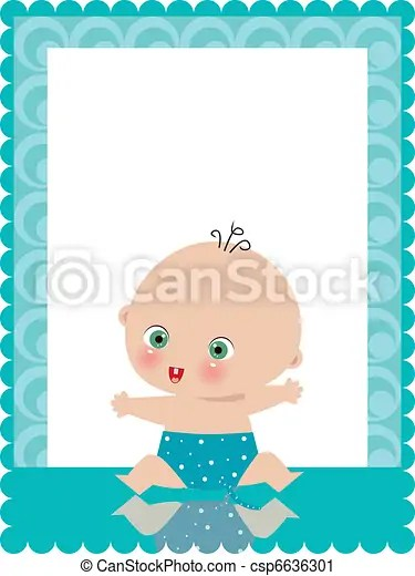 Baby boy birth announcement card vector clip art - Search