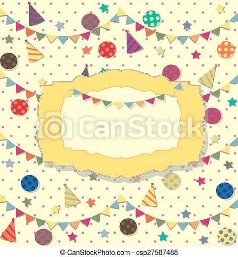birthday celebration poster ideal for club card, postcard or party