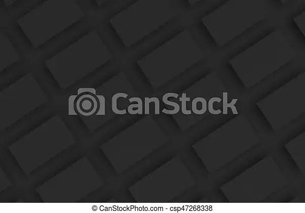 Black blank business cards mock-up on black background stock